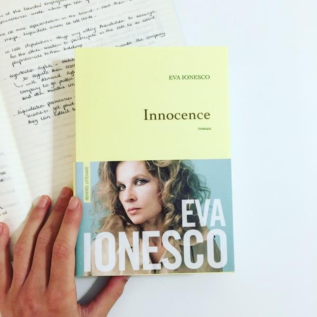 innocence - eva ionesco - editions grasset - rentrée littéraire 2017