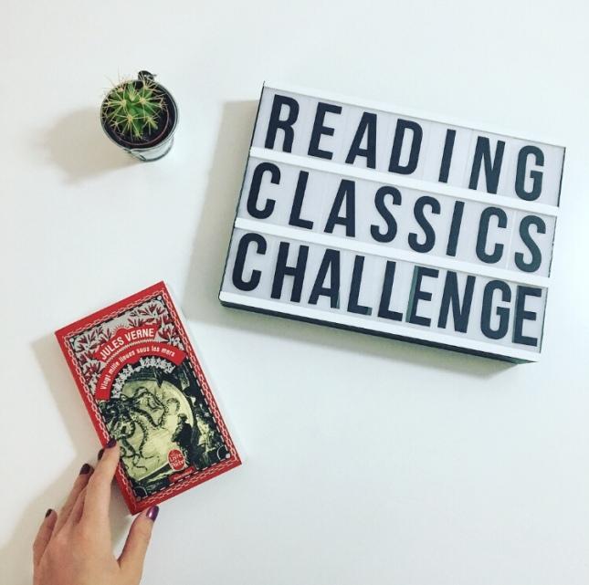 vingt mille lieues sous les mers - jules verne - livre de poche - reading classics challenge - the unamed bookshelf