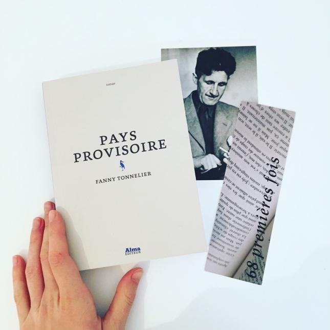Pays Provisoire - Fanny Tonnelier - Alma Editeur - Premier roman - 68 premières fois