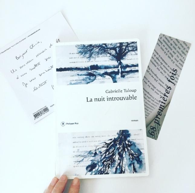 La nuit introuvable, Gabrielle Tuloup, 68 premières fois Editions Philippe Rey