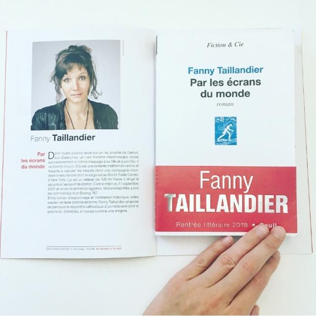 Par les écrans du monde Fanny Taillandier Editions du Seuil Rentrée littéraire 2018 The Unamed Bookshelf