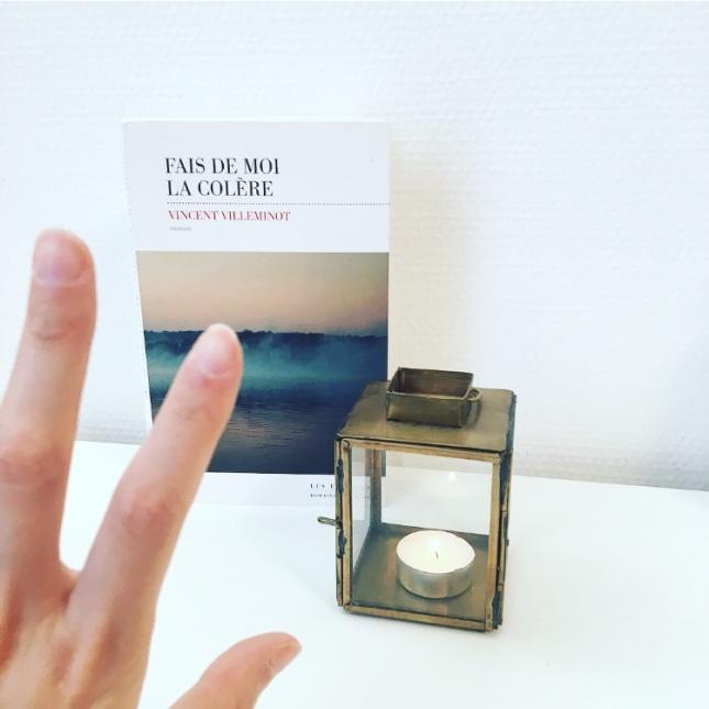 Fais de moi la colère Vincent Villeminot Les Escales Rentrée littéraire 2018 68 premières fois The Unamed Bookshelf