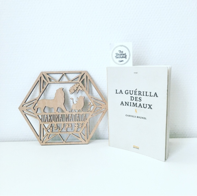 La Guérilla des animaux Camille Brunel Alma éditeur 68 Premières fois Premier roman The Unamed Bookshelf